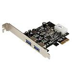 StarTech.com Carte Contrôleur PCI Express vers 2 Ports USB 3.0 avec UASP