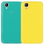 Wiko lot de 2 coques jaune et turquoise Wiko GOA