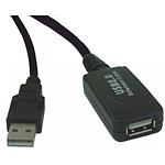 Rallonge USB 2.0 active (mâle/femelle) avec amplificateur et répéteur (5 mètres)