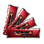 G.Skill RipJaws 4 Series Rouge 16 Go (4x 4 Go) DDR4 2666 MHz CL15