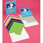 Rainex 20 Chemises de présentation Chromolux à 2 rabats 24x32 cm 250g - Blanc