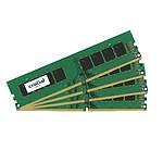 Crucial DDR4 16 Go (4 x 4 Go) 2666 MHz CL19 SR X8