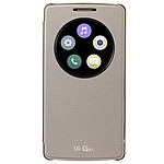 LG Etui Quick Window Circle Or pour LG G3 S