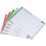 L'Oblique Lot de 10  planches d'étiquettes n°0 pour dossiers suspendus tiroir AZ, Médium et Défi