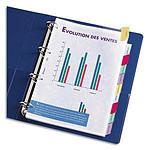 Elba Intercalaires Format A4XL 12 touches pour pochettes