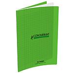 Conquérant Cahier 96 pages 17 x 22 cm seyes grands carreaux Vert