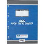 Conquerant 200 pages copies doubles grands carreaux Séyès A4