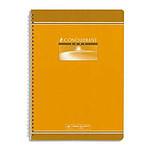 Conquérant Cuaderno Seven Spiral 100 páginas 21 x 29,7 cm grande azulejos Seyès colores aleatorios