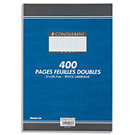 Conquerant 400 pages copies doubles petits carreaux 5 x 5 mm non perforées