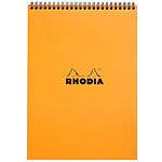 Rhodia Bloc Note Spirale 21 x 29.7 cm quadrillé 5 x 5 160 pages