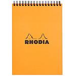 Rhodia bloc de notas Orange Spiral 14.8 x 21 cm cuadrado 5 x 5 160 páginas