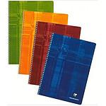 Clairefontaine Cahier Metric Spirale 180 pages 21 x 29.7 cm petits carreaux 5 x 5 mm coloris aléatoires (x5)