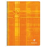 Clairefontaine Cahier Metric Spirale 100 pages 24 x 32 cm grands carreaux Seyès coloris aléatoires
