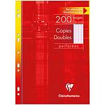 Clairefontaine Copies doubles perforées 200 pages 21 x 29.7 cm grands carreaux Seyes