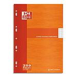 Oxford Copies doubles perforées 200 pages 21 x 29.7 cm grands carreaux Seyes