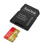 SanDisk Carte mémoire microSDXC Extreme UHS-I 64 Go + Adaptateur SD
