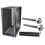 APC Smart-UPS Rack-Mount 2200VA LCD 230V + APC NetShelter SX 24U Deep Enclosure + 2x APC Basic Rack PDU