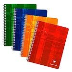 Clairefontaine Cahier Metric Spirale 100 páginas 17 x 22 cm baldosas pequeñas 5 x 5 mm colores aleatorios
