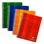 Clairefontaine Cahier Metric Spirale 100 pages 17 x 22 cm petits carreaux 5 x 5 mm coloris aléatoires (x10)