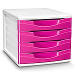 CEP Module de classement 4 tiroirs Gloss Rose Pepsy 894G