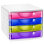 CEP Happy Bloc de classement 4 tiroirs multicolore