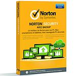 Norton Security avec Backup Antivirus - Licence 1 an 10 postes