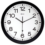 Orium Horloge radio contrôlée noire