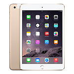 Apple iPad mini 3 avec écran Retina Wi-Fi + Cellular 16 Go Or