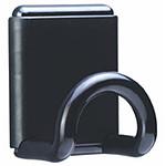 Unilux patère magnétique jusqu'à 12 kg Noir