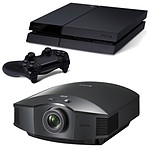 Sony VPL-HW55ES Noir + Sony PlayStation 4