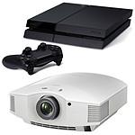 Sony VPL-HW55ES Blanc + Sony PlayStation 4