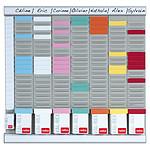 Nobo kit planificador de oficinas 8 columnas 24 slots