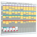 Nobo Kit de planificación anual 13 columnas 32 espacios