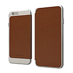 Muvit Crystal Folio Made in Paris Marron pour Apple iPhone 6 Plus
