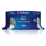 Verbatim BD-R SL 25 Go vitesse 6x imprimable (par 25, spindle)