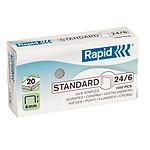 Rapid agrafes 24/6 boite de 1000 agrafes