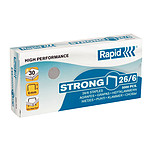 Rapid agrafes 26/6 boite de 5000 agrafes Strong