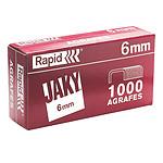 Rapid Grapas Jaky caja de 6mm de 1000 grapas