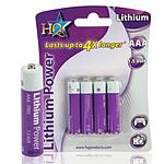 Piles au lithium AAA 1.5V (par 4)