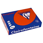 Clairefontaine papel 500 hojas A4 80g Rojo claro
