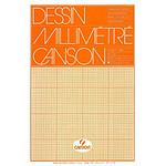 Canson Bloc de papier dessin millimétré 50 feuilles 29,7x42 72g