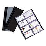 ELBA Protège-cartes de visite 10 x 24 cm Noir