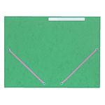 Chemise à élastiques 3 rabats en carte 375g Vert