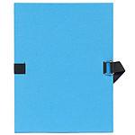 Exacompta Chemise à sangle papier toilé Bleu ciel