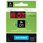 DYMO Ruban D1 Standard - noir/rouge 12 mm x 7 m