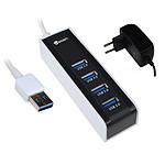 Heden hub USB 3.0 (4 ports) avec bloc d'alimentation secteur