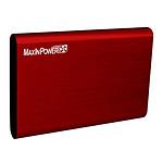 MaxInPower boitier externe USB 3.0 en aluminium brossé pour disque dur 2.5'' SATA III (coloris rouge)