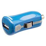 Mini chargeur USB 2.1A sur prise allume-cigare (bleu)