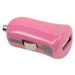 Minicargador USB 2.1A para la toma del encendedor eléctrico (rosa)