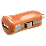 Mini chargeur USB 2.1A sur prise allume-cigare (orange)